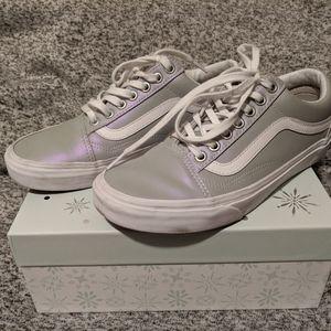 Vans iridescent gray old skool sneakers